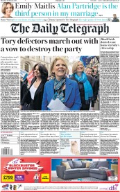 The Daily Telegraph (UK) Front Page for 21 February 2019